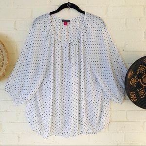 Vince Camuto polka dot blouse
